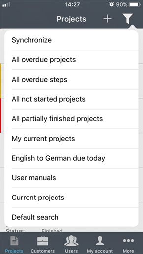 Find projects easily