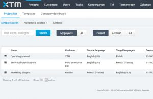 XTM v10 new look, Cloud translation management