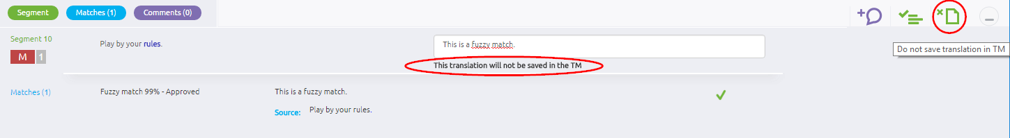 do not save translation