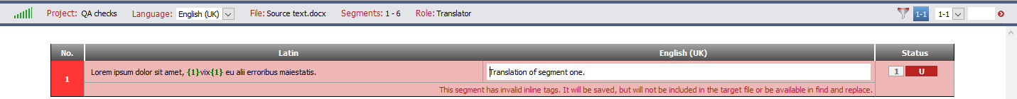 segment without inline elements