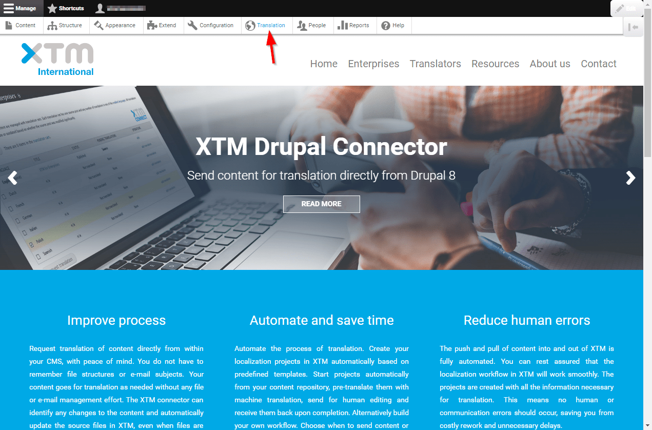 translation provider in Drupal 8