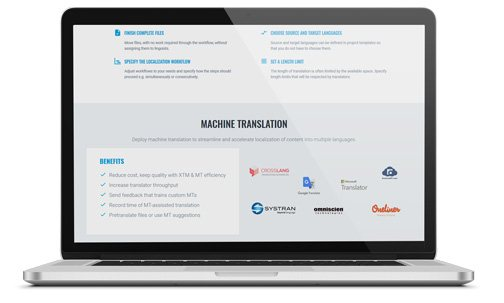Benefit from integrated machine translation