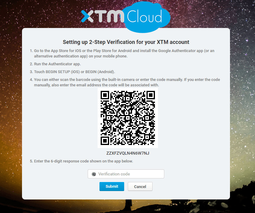 How to setp up 2-step verification setup