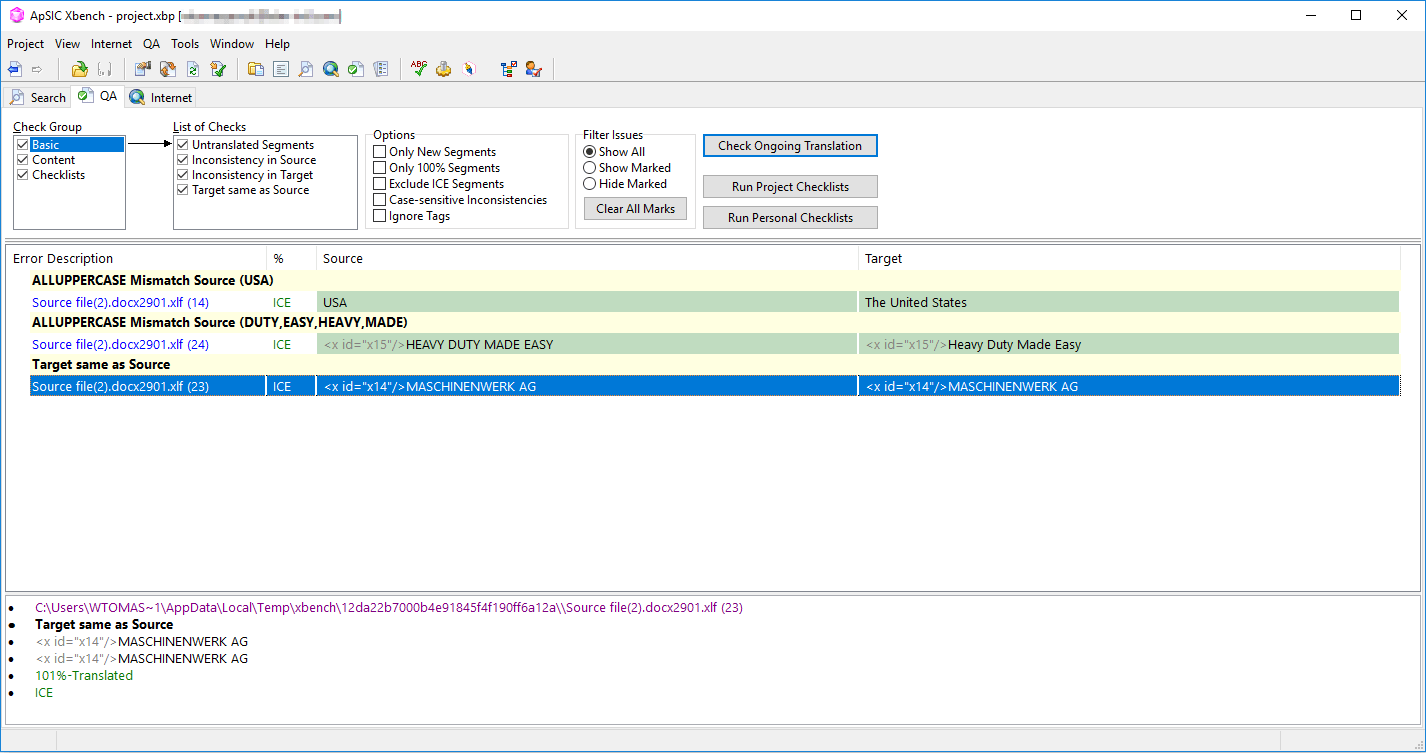 How to perform QA in Xbench xbench