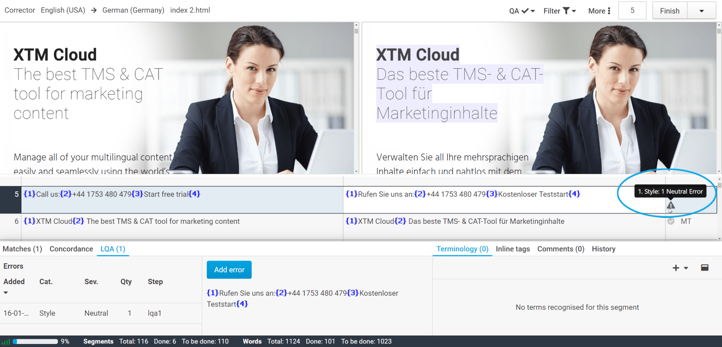 How to perform LQA in XTM Workbench