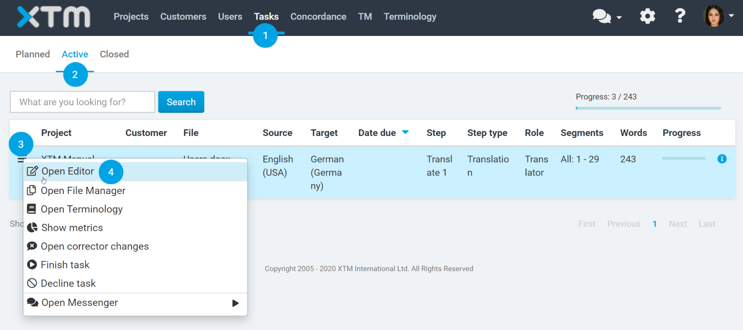 interactive previews for MS Word in XTM Workbench