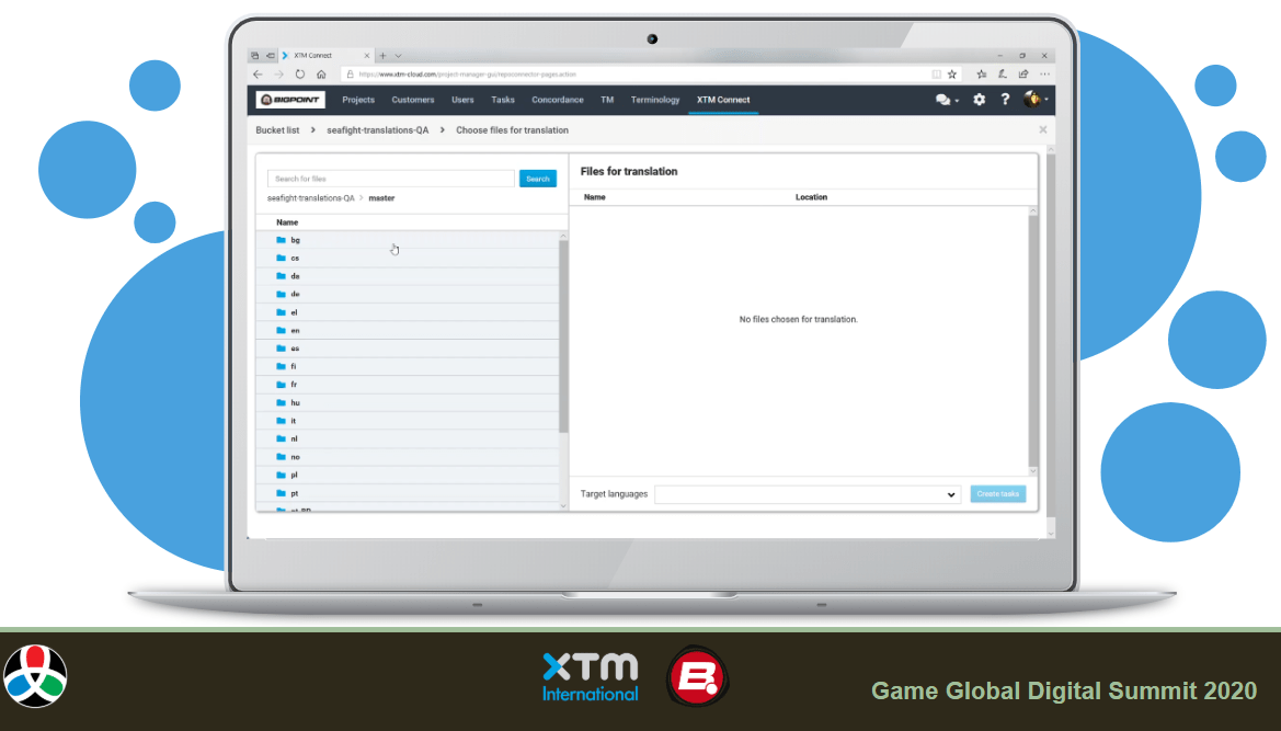 XTM Connect for Git - QA search
