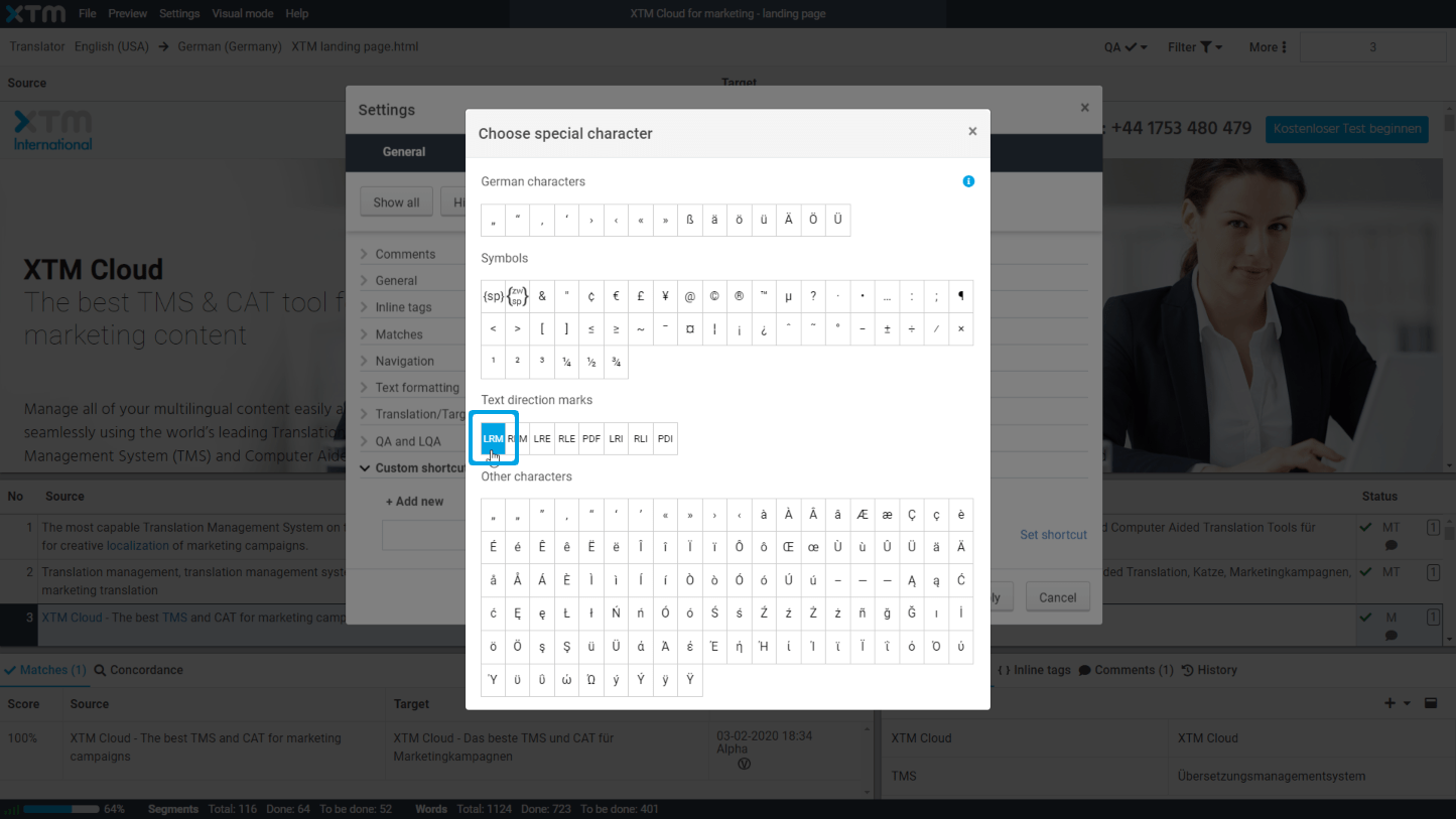 Custom shortcuts for special characters