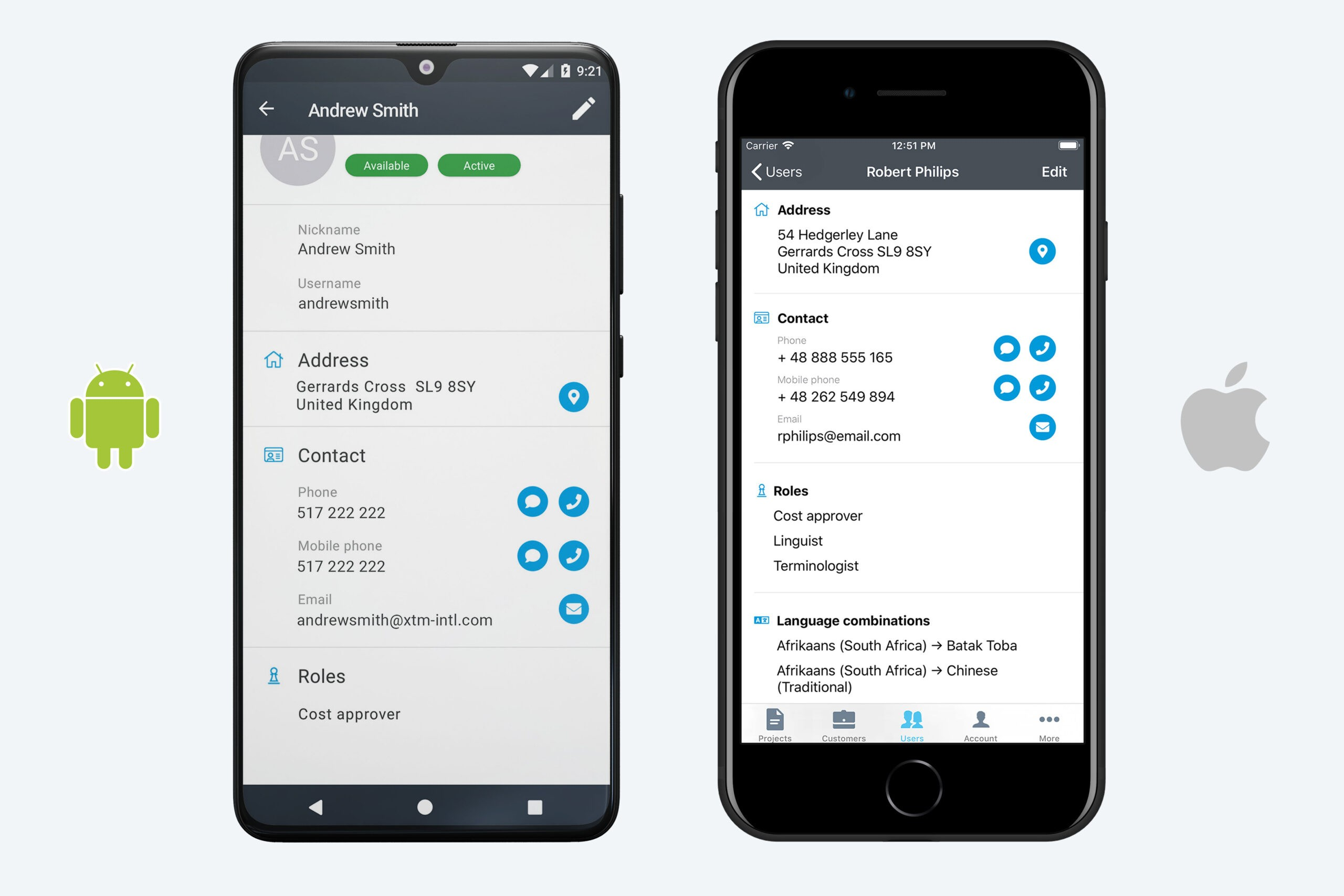 XTM Mobile Cost approver
